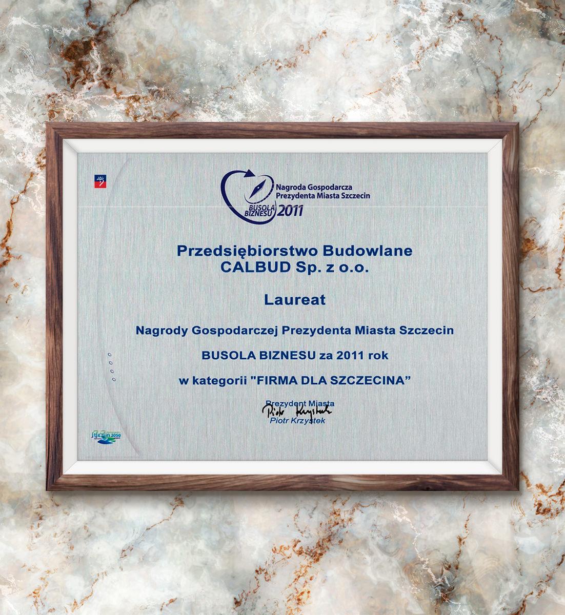 Busola Biznesu za 2011 rok - laureat w kategorii