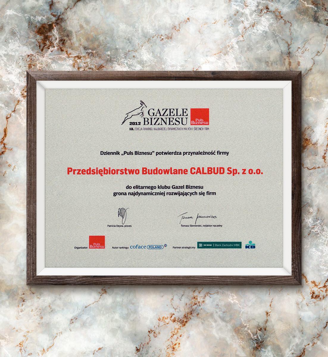 Gazele Biznesu 2012 - ranking Dziennika
