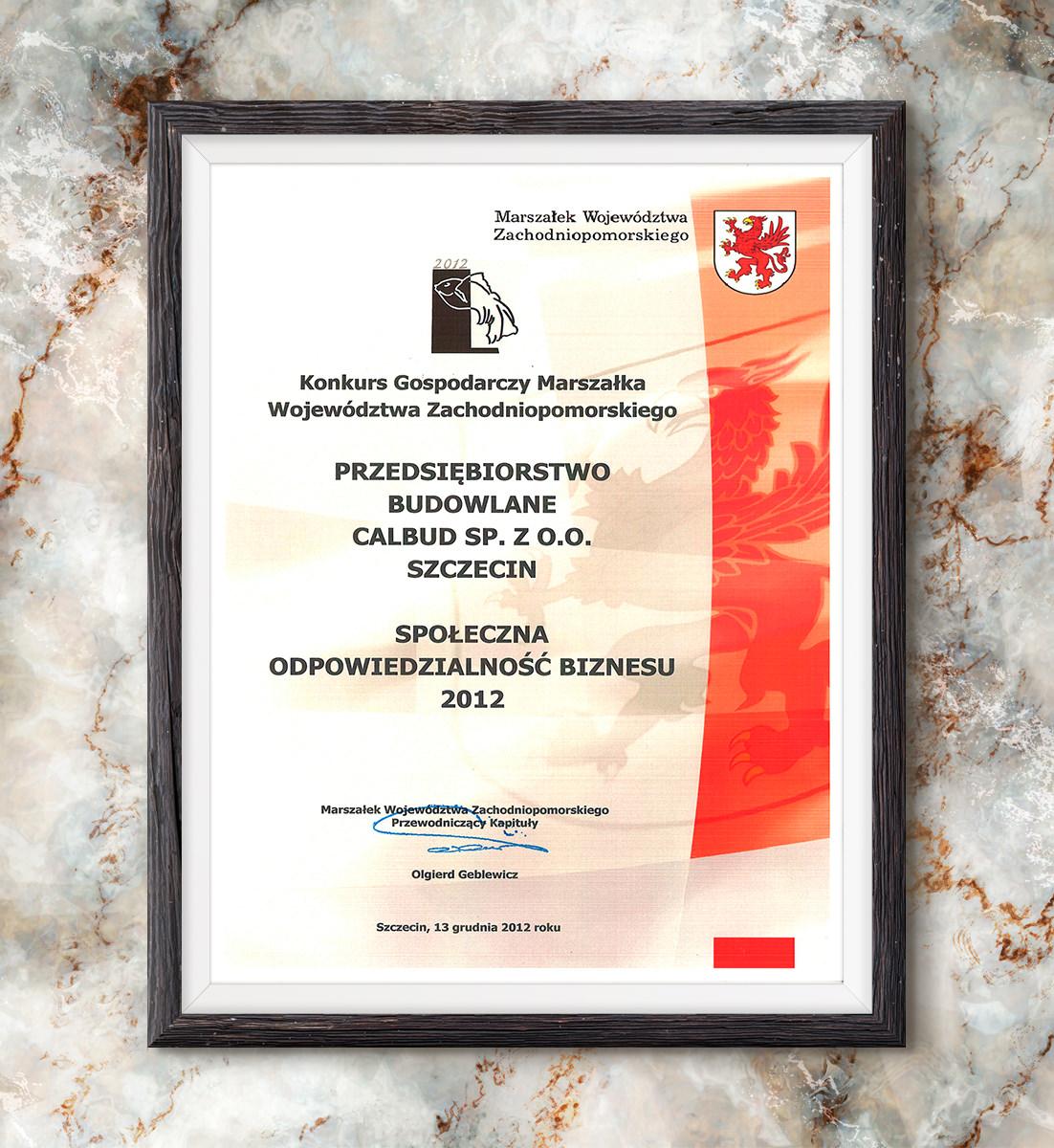 Złota Rybka 2012 - laureat w kategorii