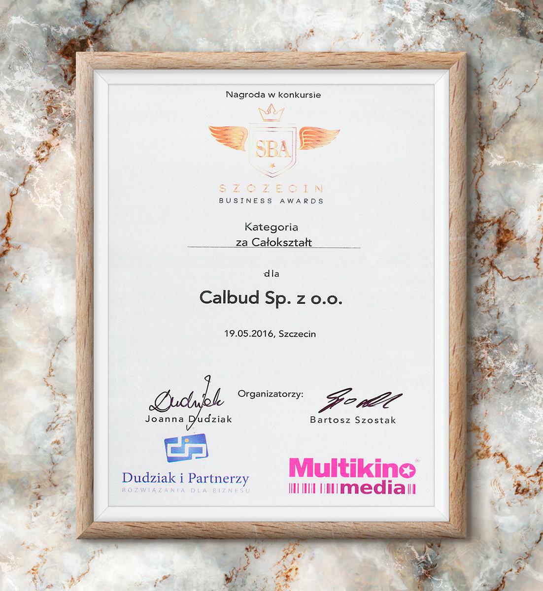 Szczecin Business Awards 2016 - nagroda za całokształt